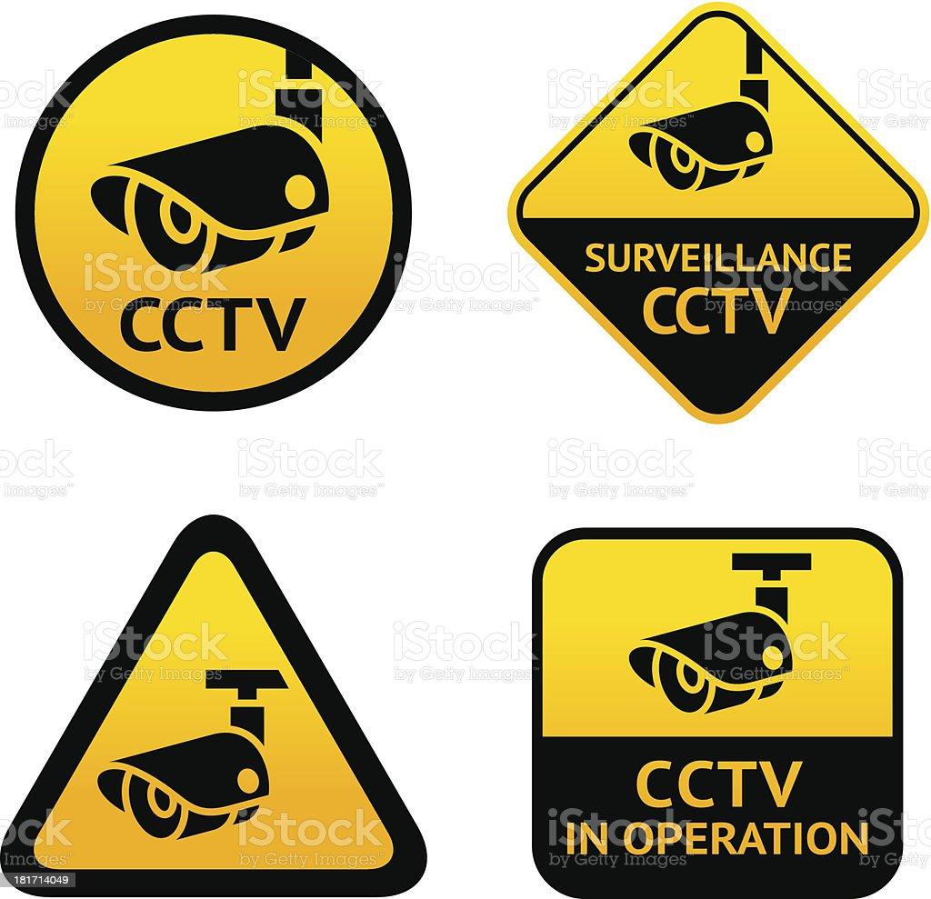 Video surveillance, set signs royalty-free stock vector art