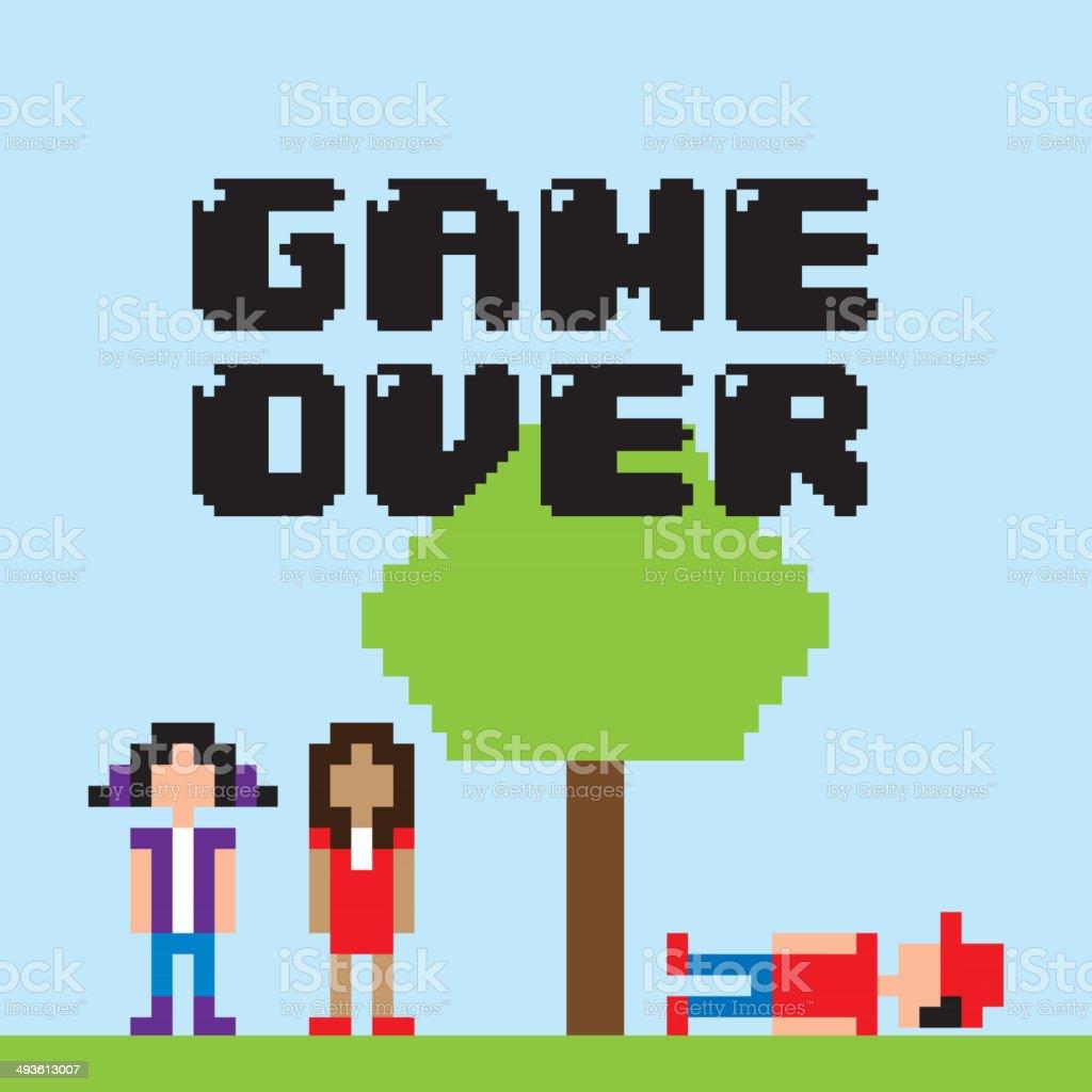 Videogame design vector art illustration