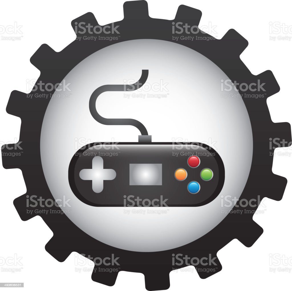 Videogame design royalty-free stock vector art