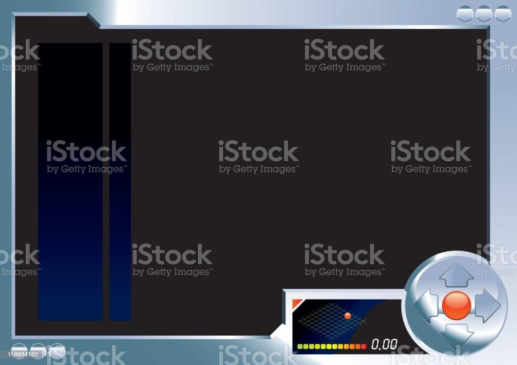 videogame frame royalty-free stock vector art