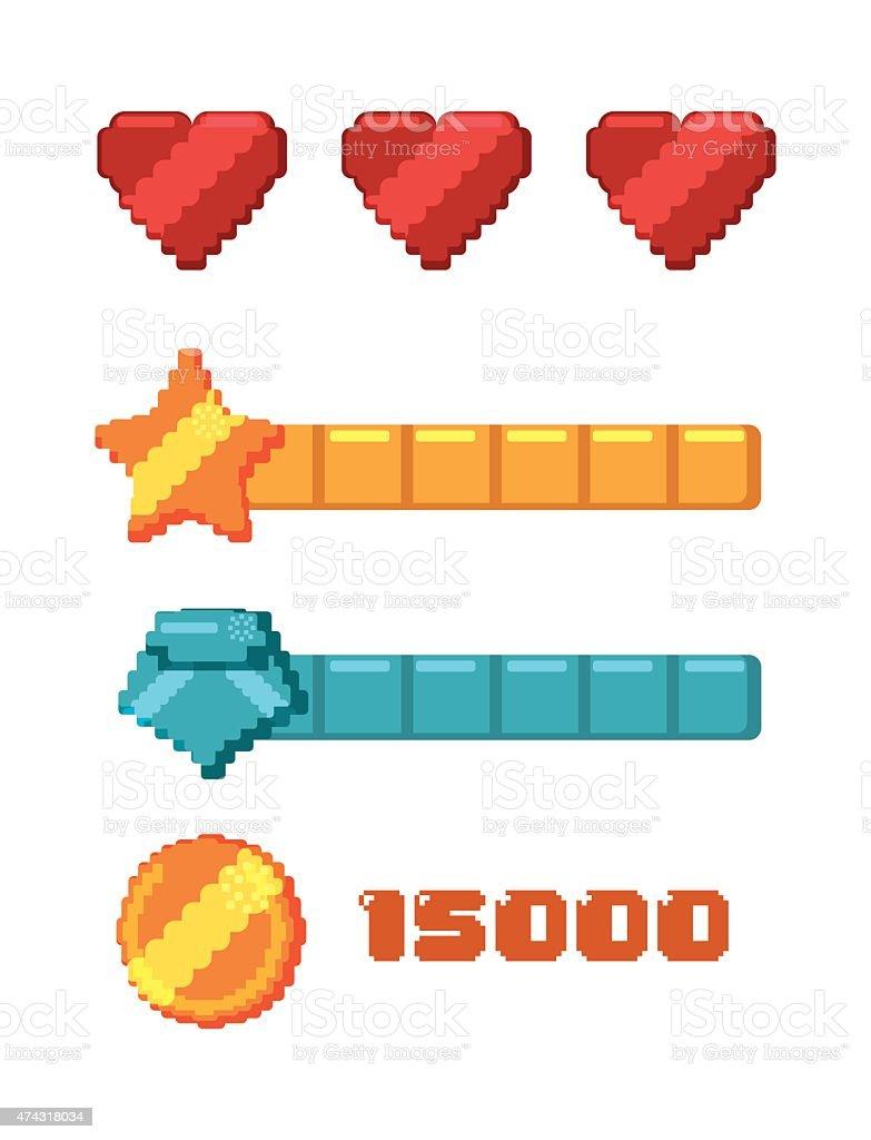 Videogames design. vector art illustration