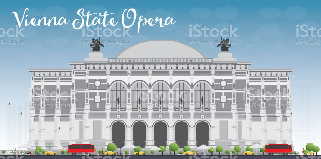 Vienna State Opera. Vector illustration. vector art illustration
