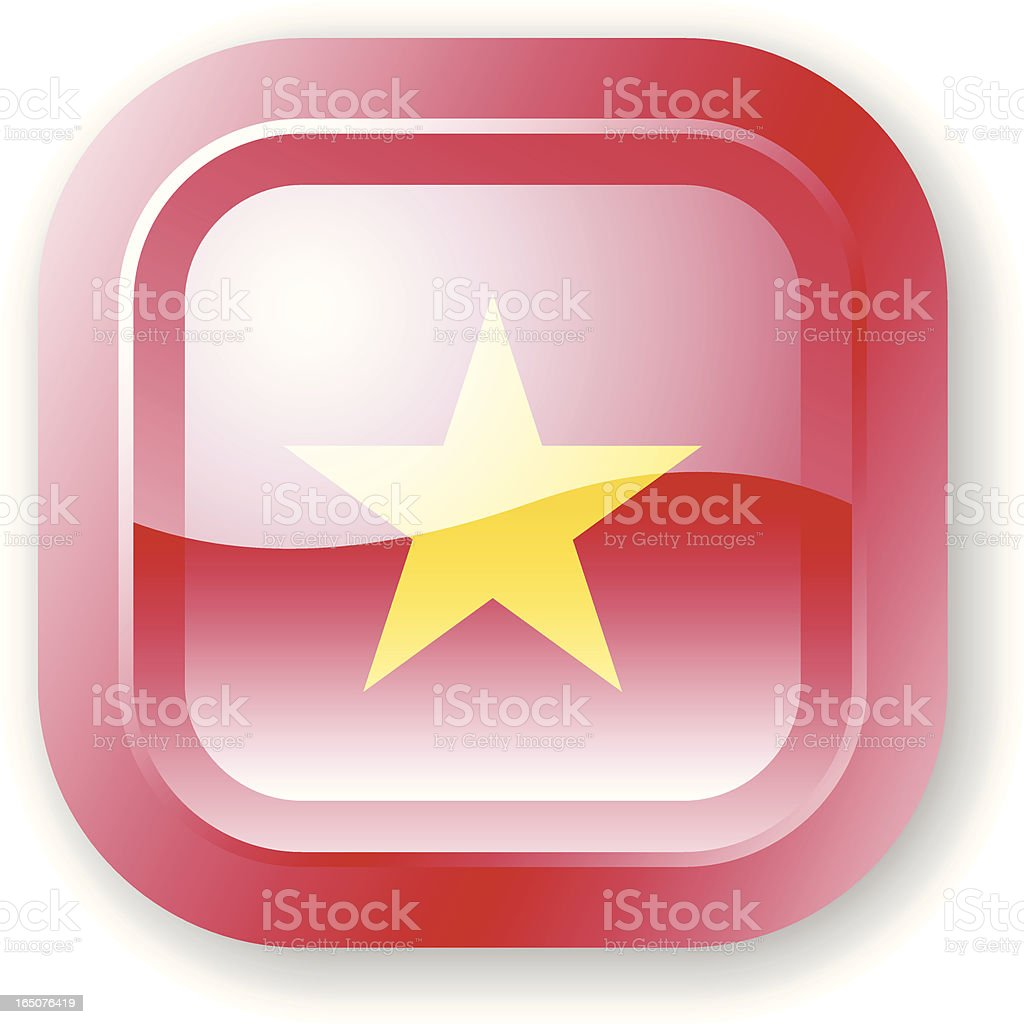 Vietnam Flag Icon royalty-free stock vector art