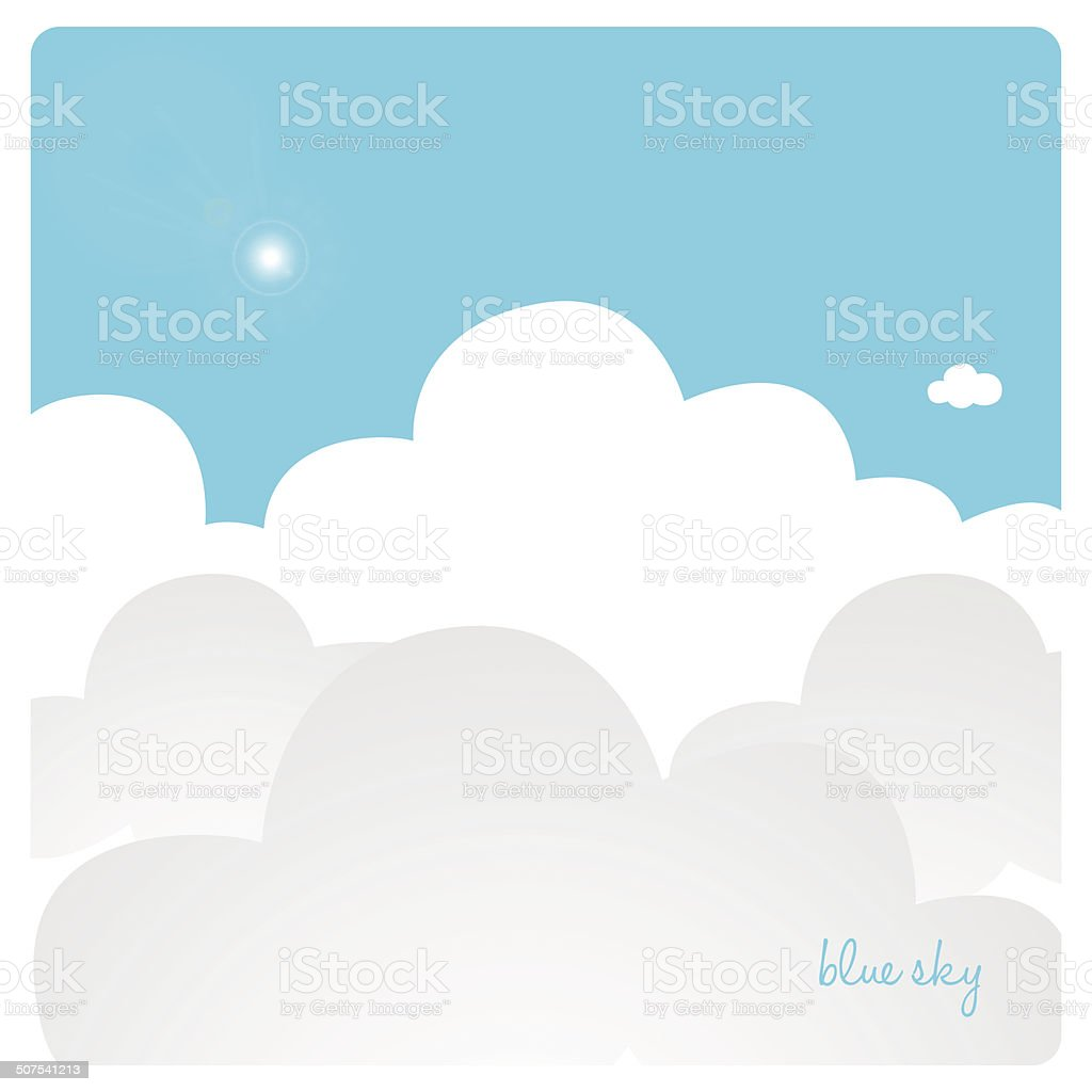 view from above of sky with fluffy clouds royalty-free stock vector art