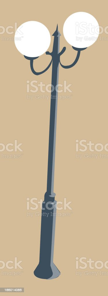 view of a Street Light royalty-free stock vector art