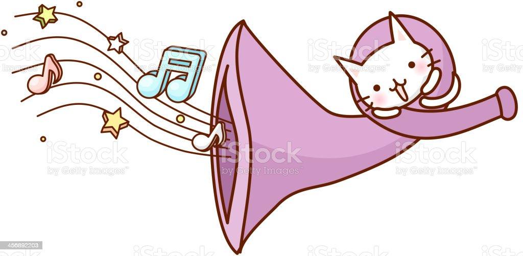 view of loudspeaker royalty-free stock vector art