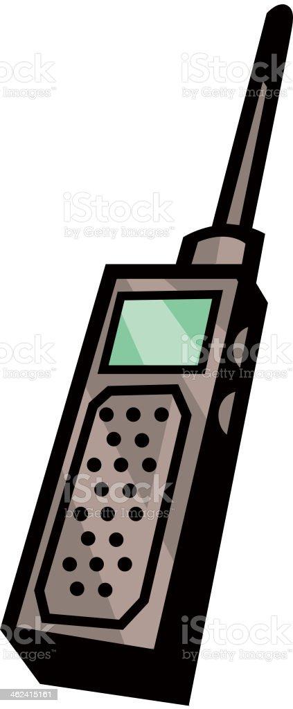 View of wireless set vector art illustration