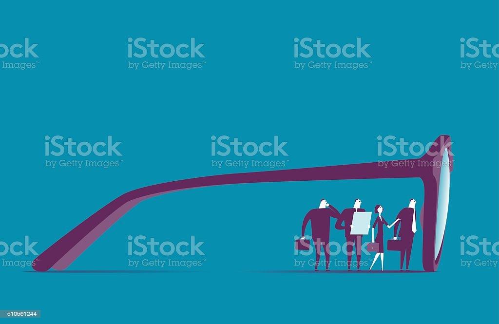 View vector art illustration