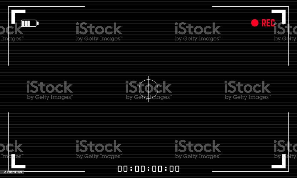 Viewfinder digital video camera vector art illustration