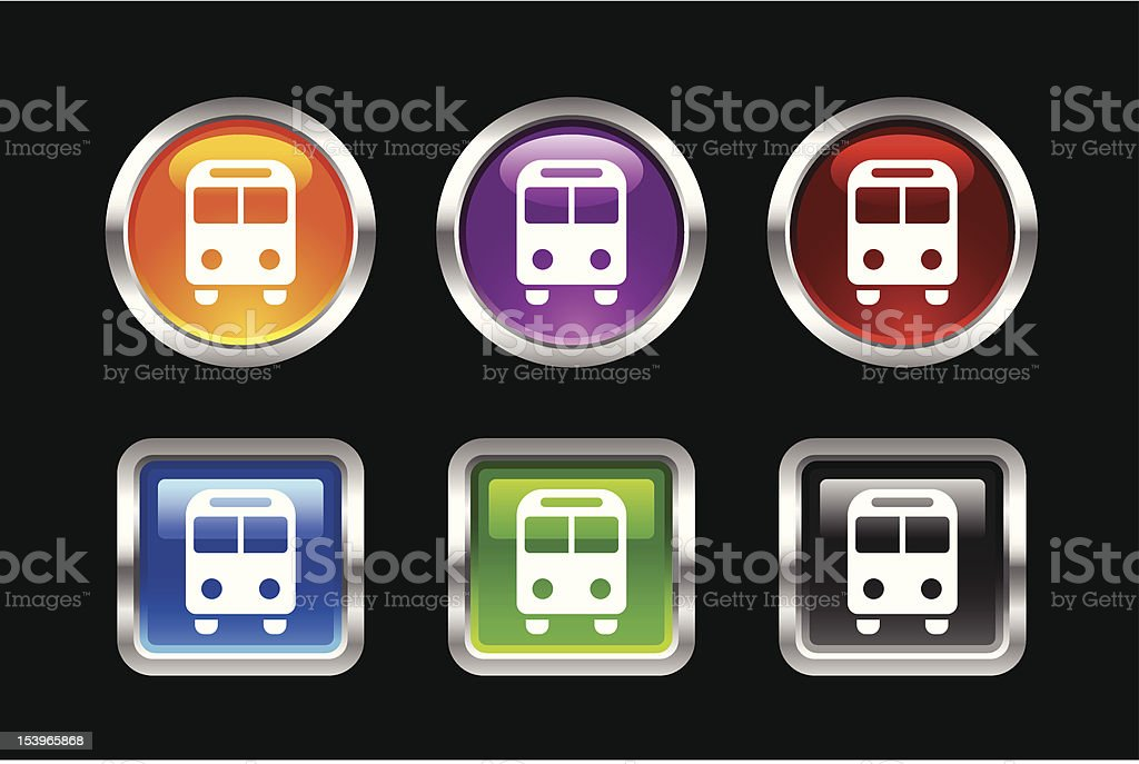 'Vii' Icon Series | Bus royalty-free stock vector art