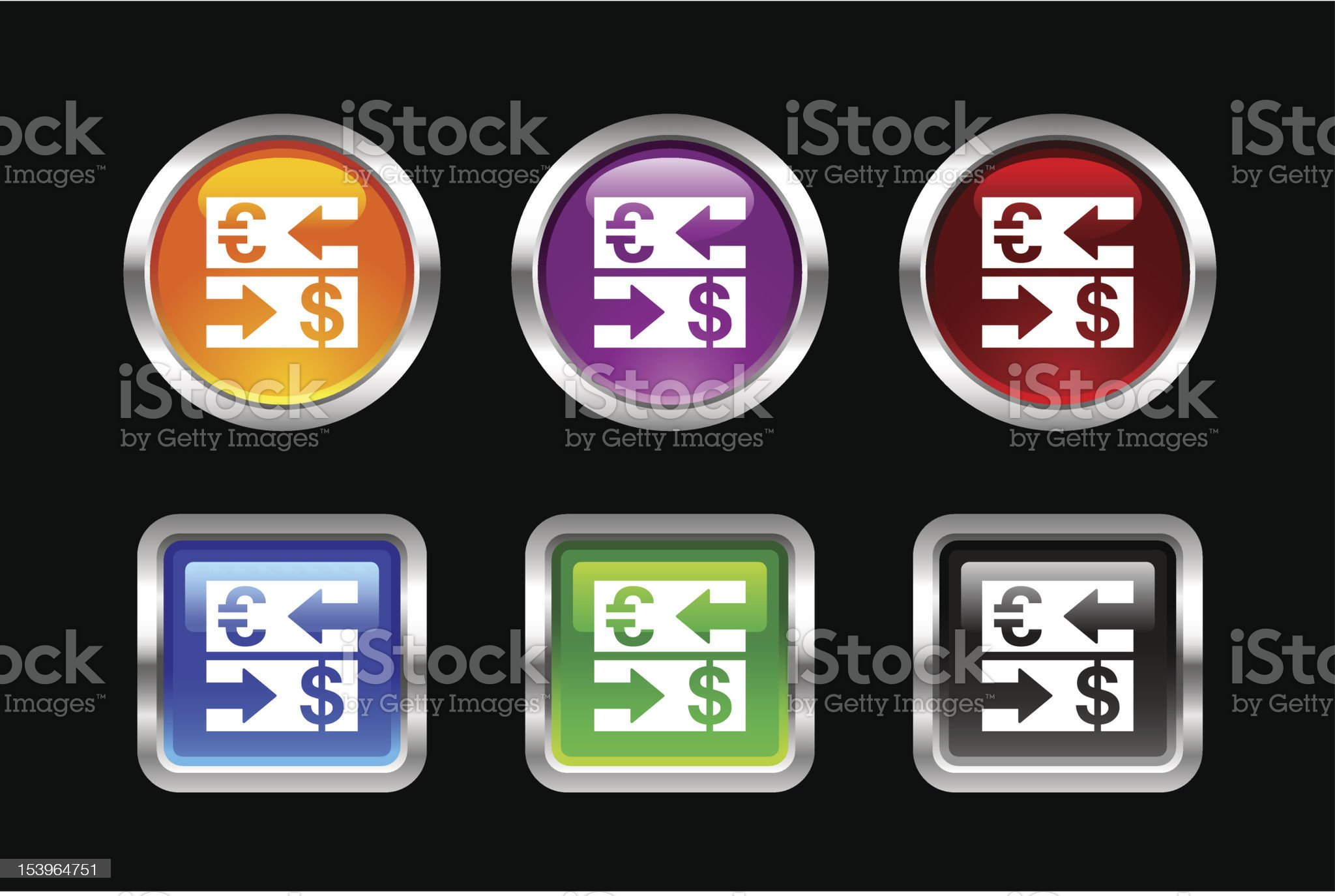 'Vii' Icon Series | Currency Exchange royalty-free stock vector art