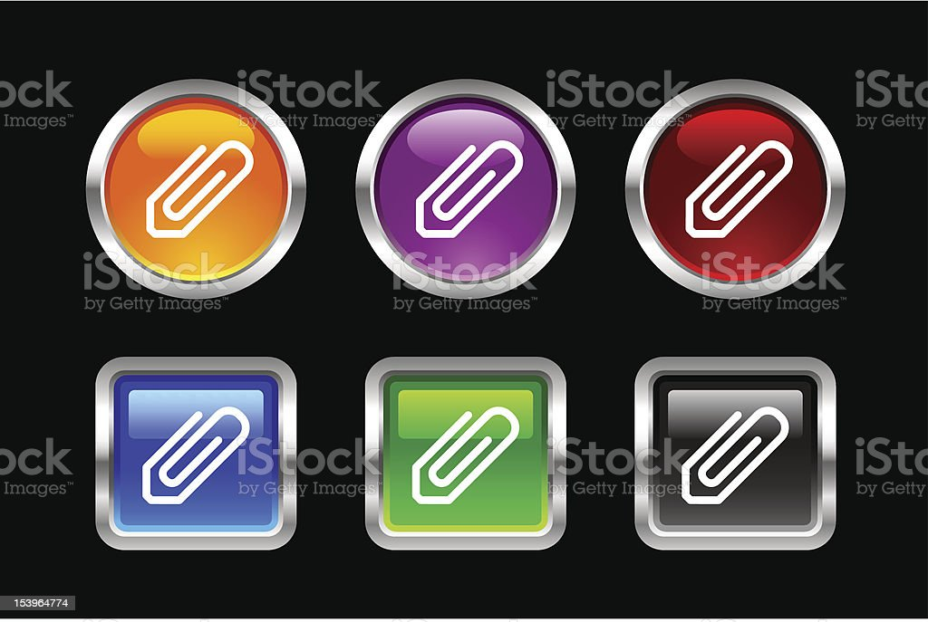 'Vii' Icon Series | Email Attachment royalty-free stock vector art