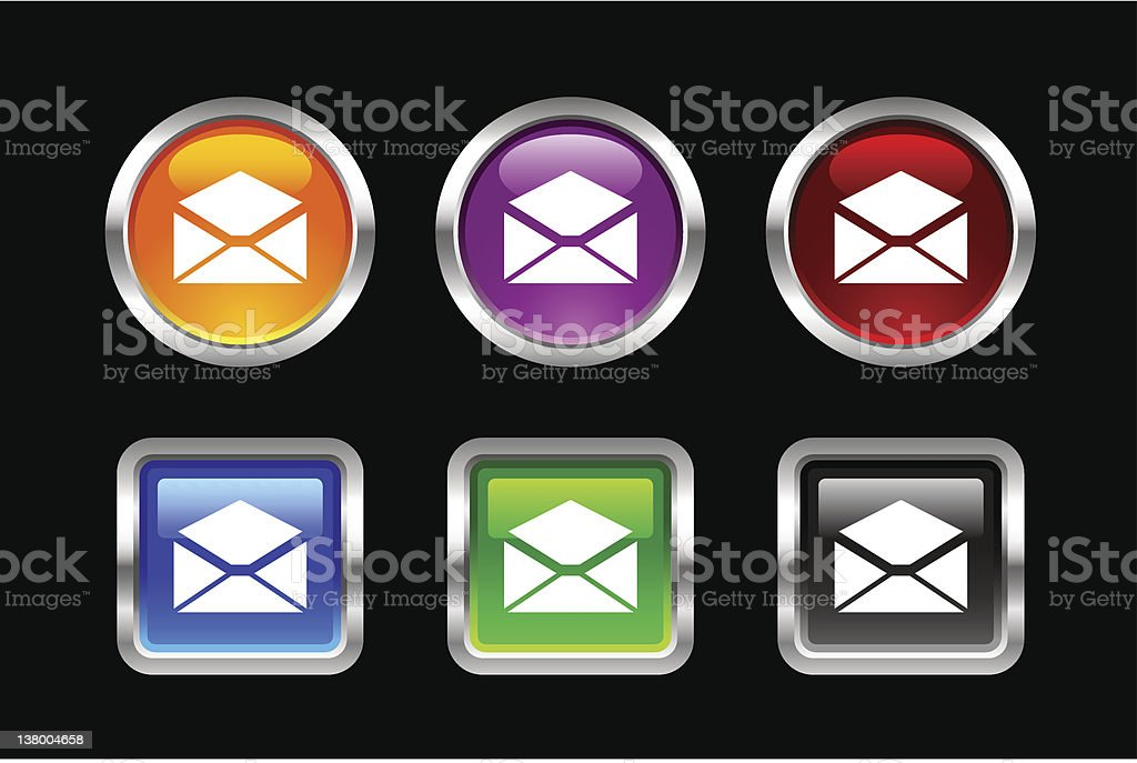 'Vii' Icon Series | Email royalty-free stock vector art