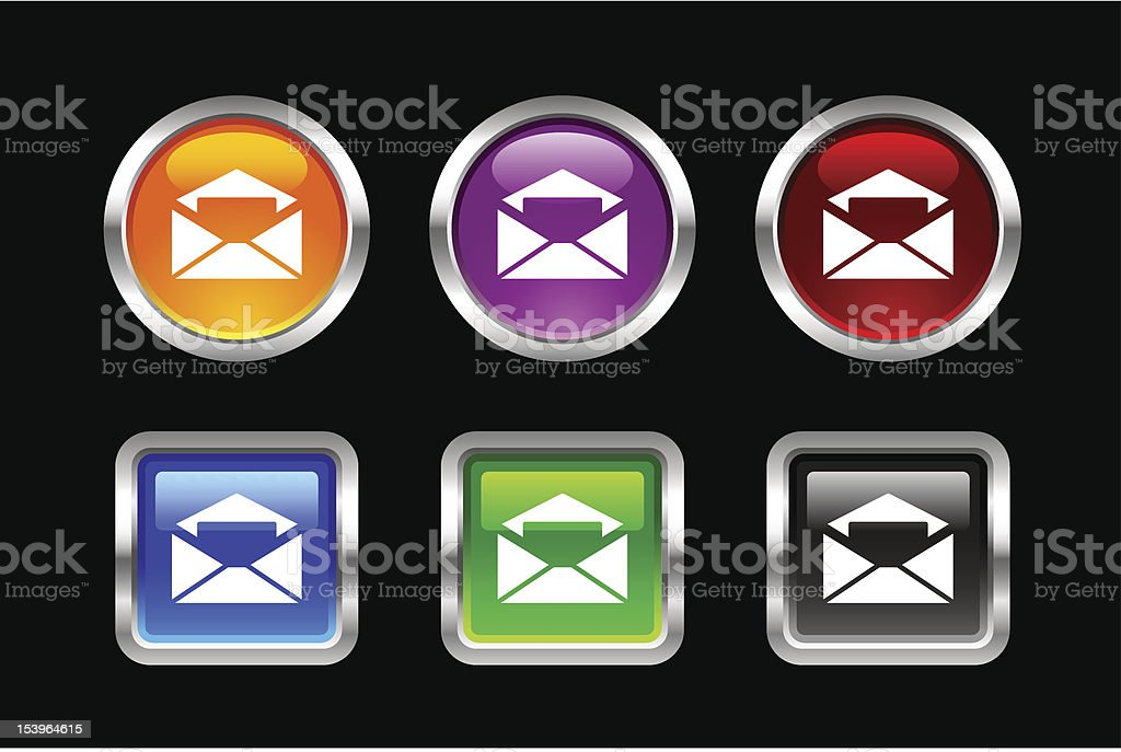 'Vii' Icon Series   Email royalty-free stock vector art