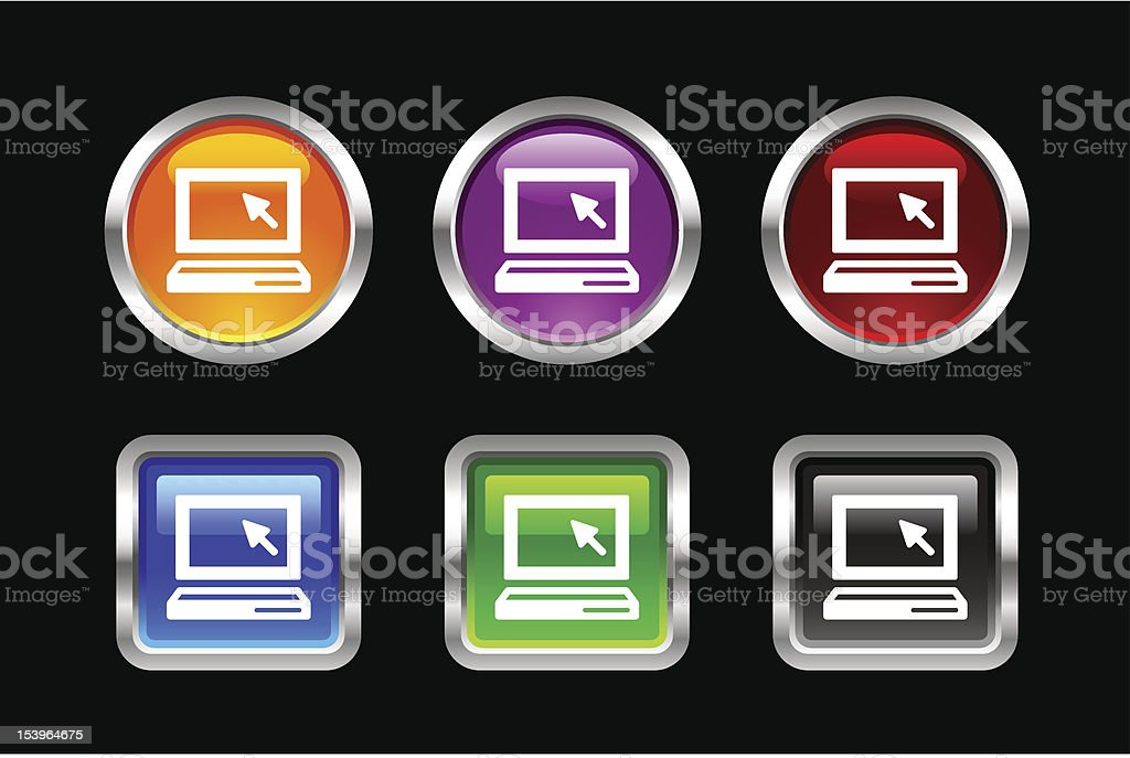 'Vii' Icon Series | Laptop royalty-free stock vector art