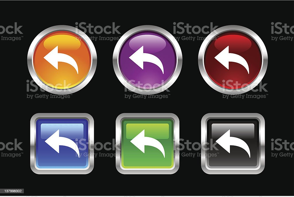'Vii' Icon Series | Reload Page royalty-free stock vector art