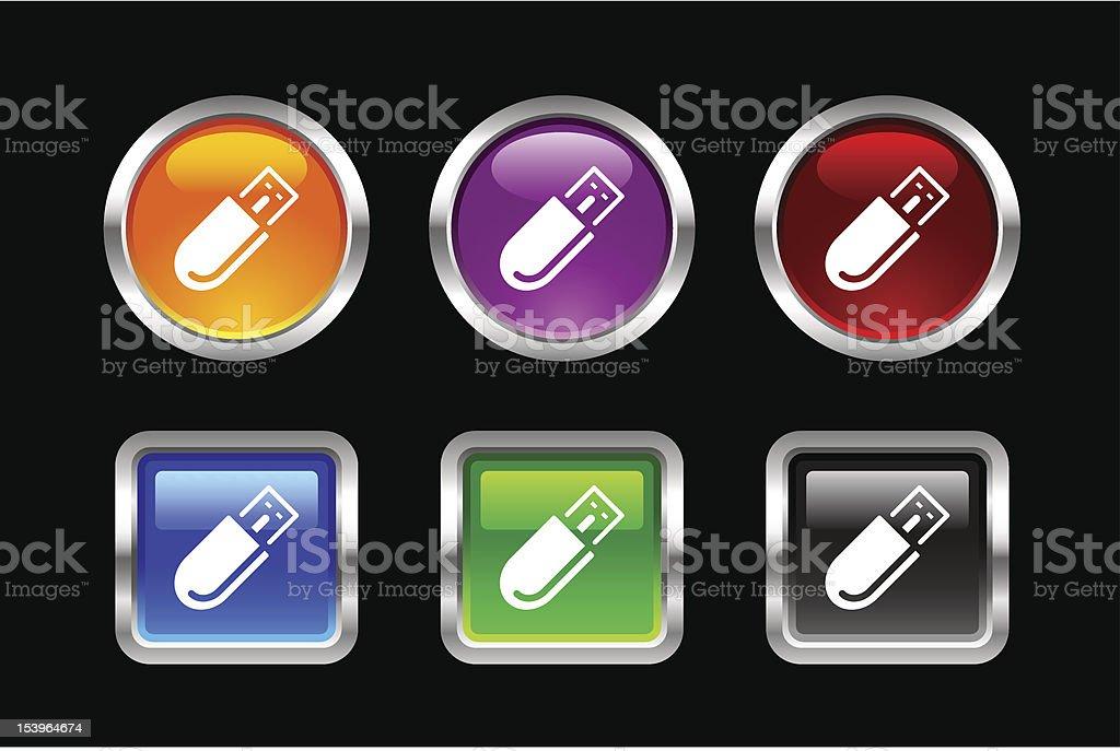 'Vii' Icon Series | USB Pen Drive royalty-free stock vector art