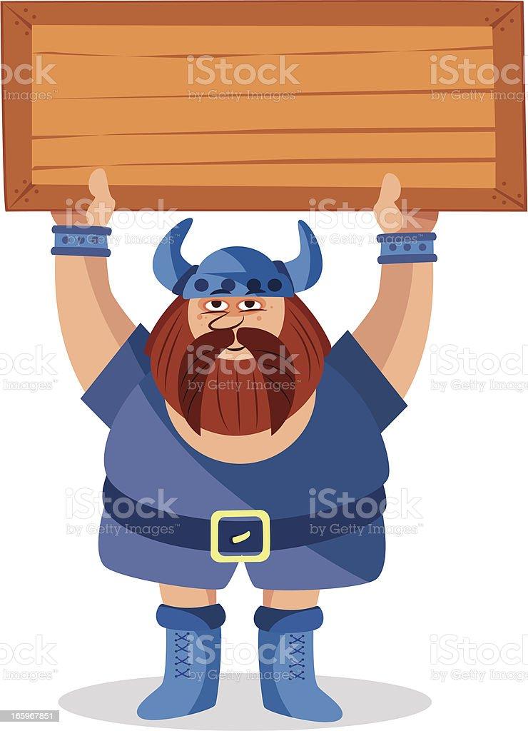 viking and sing royalty-free stock vector art