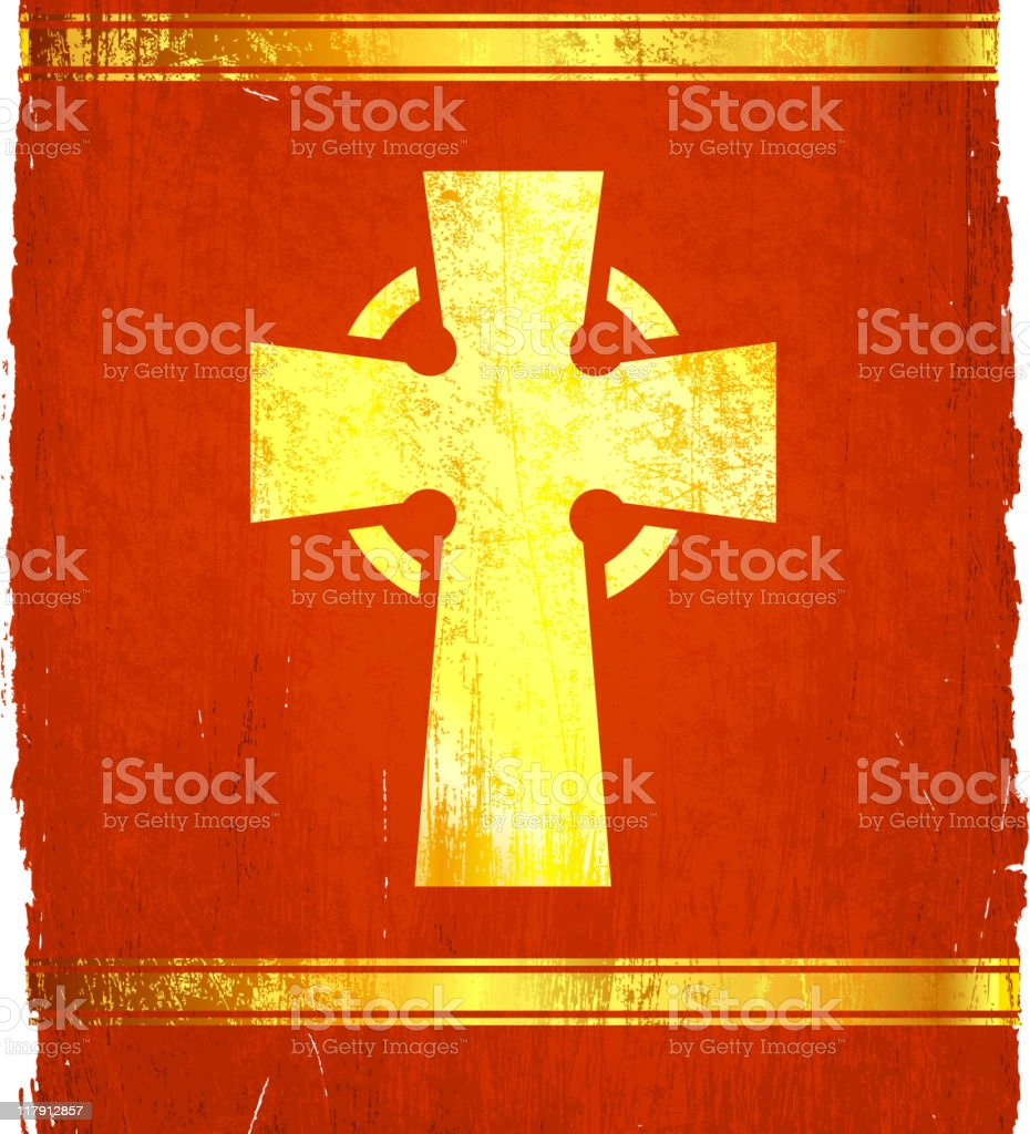 viking cross on royalty free vector Background royalty-free stock vector art