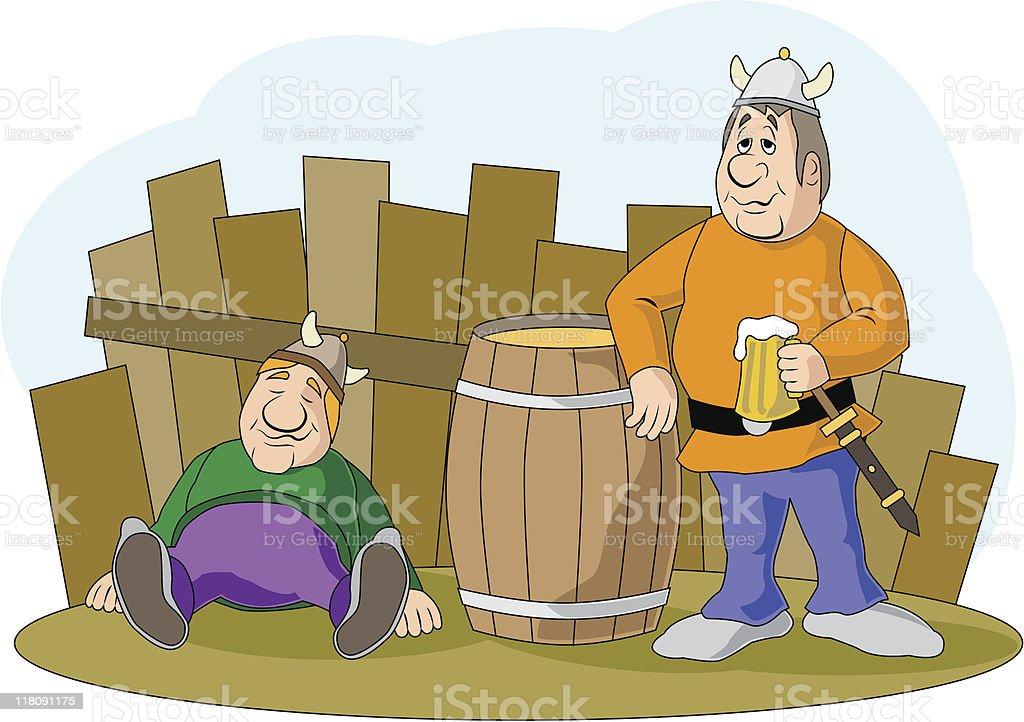 viking drunk royalty-free stock vector art