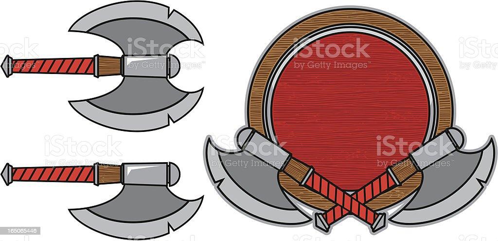 Viking elements. royalty-free stock vector art