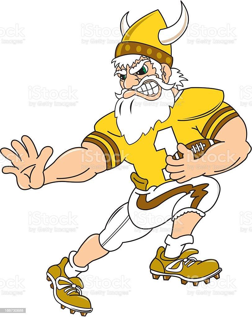 Viking Football Player royalty-free stock vector art