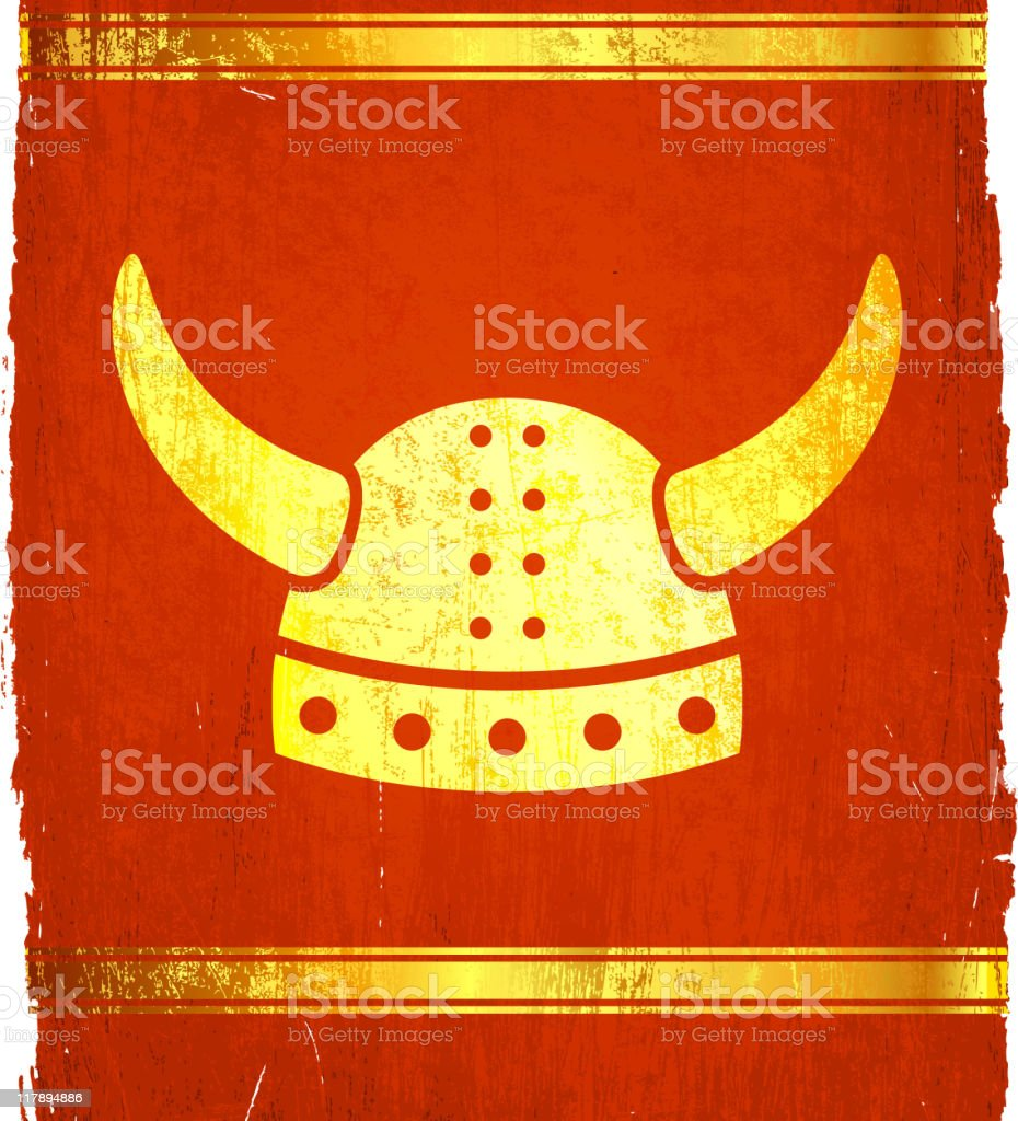 viking hat on royalty free vector Background royalty-free stock vector art
