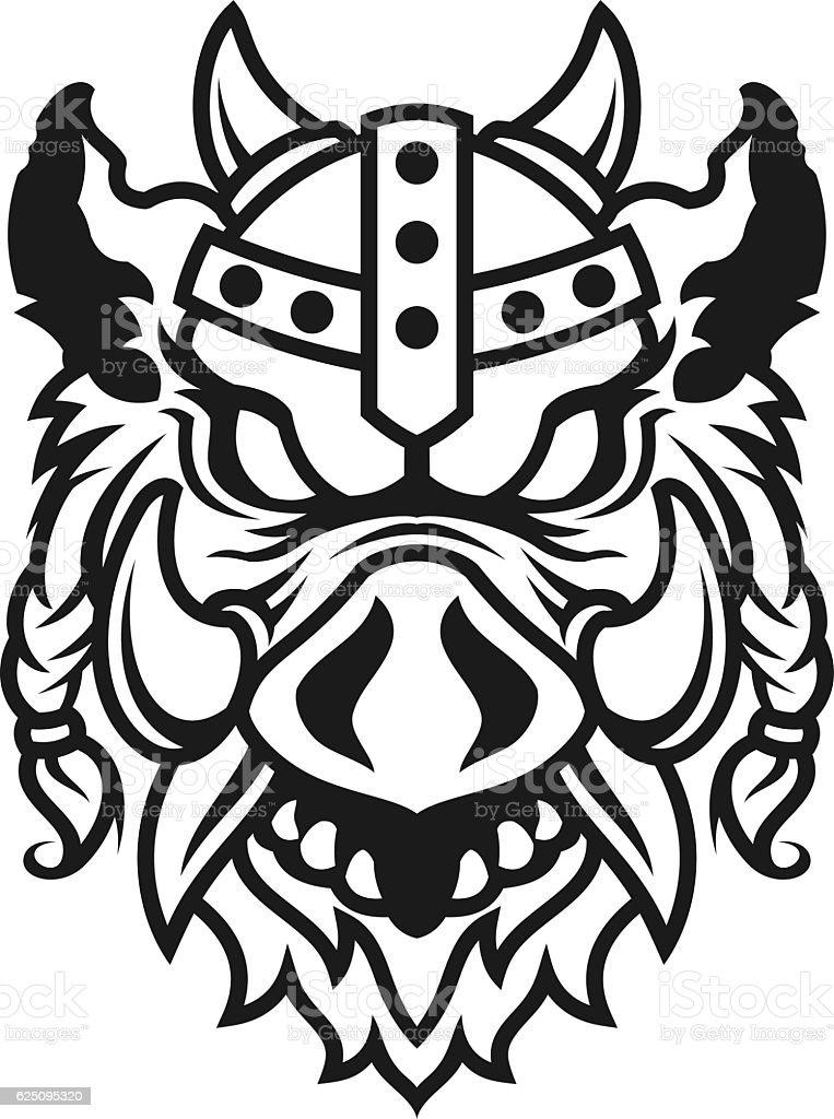 Viking Hog vector art illustration