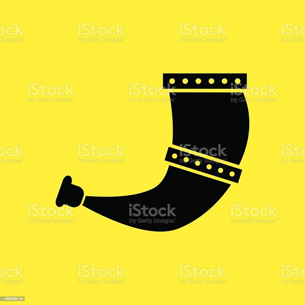 Viking Hunting horn. vector illustration eps 10 vector art illustration