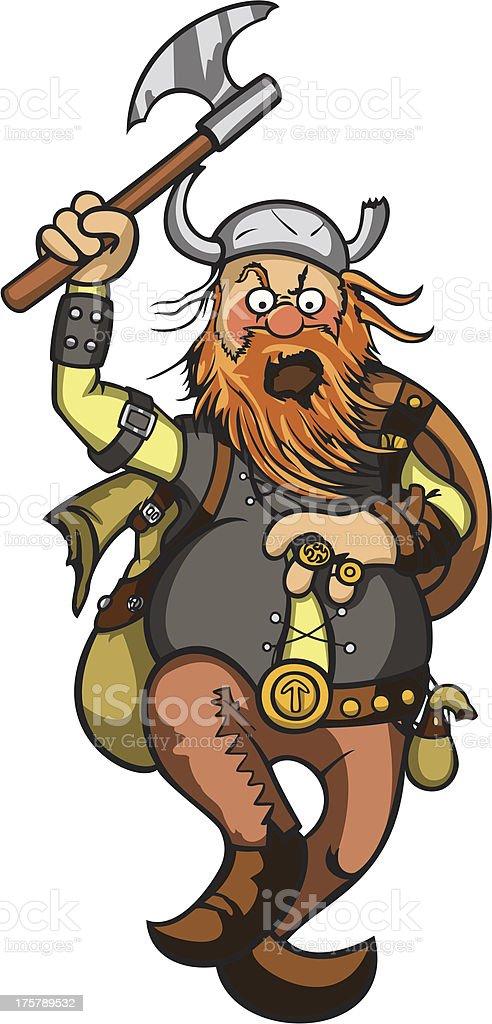 Viking in attack royalty-free stock vector art