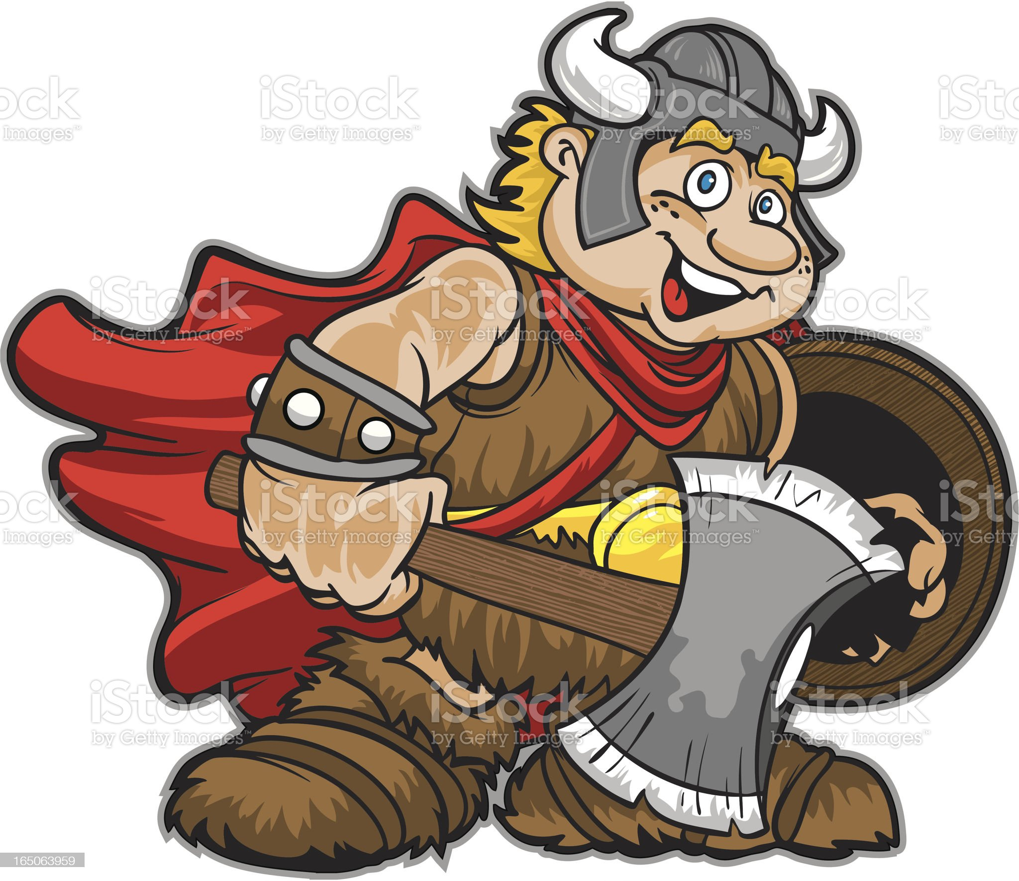 Viking Kid royalty-free stock vector art
