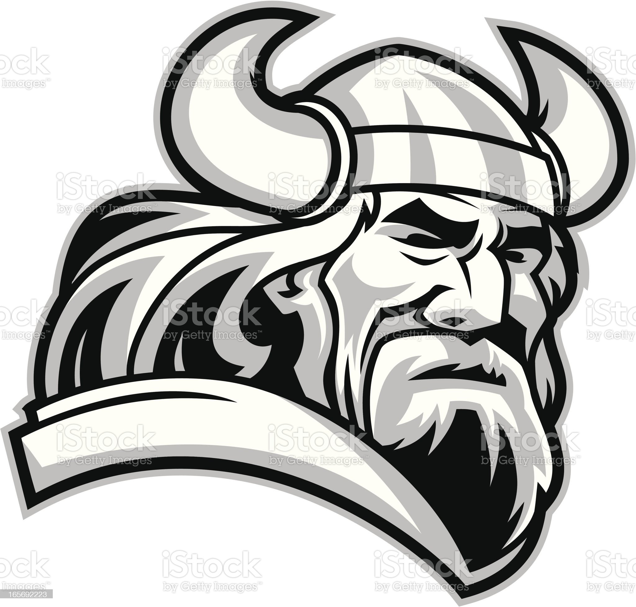 Viking Mascot royalty-free stock vector art