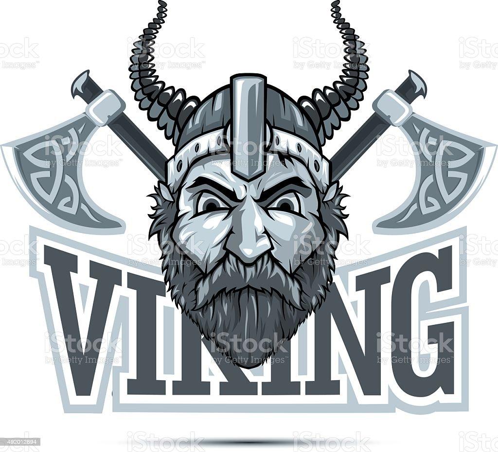 Viking Mascot vector art illustration