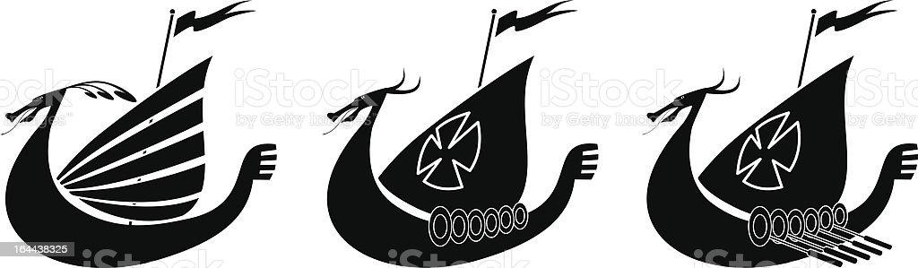 Viking Ship royalty-free stock vector art