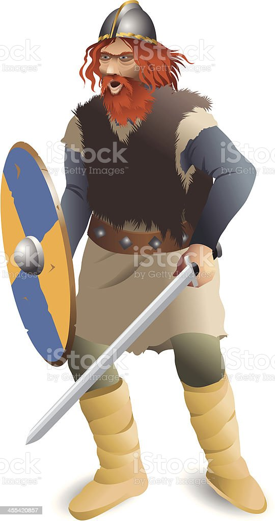 Viking vector art illustration