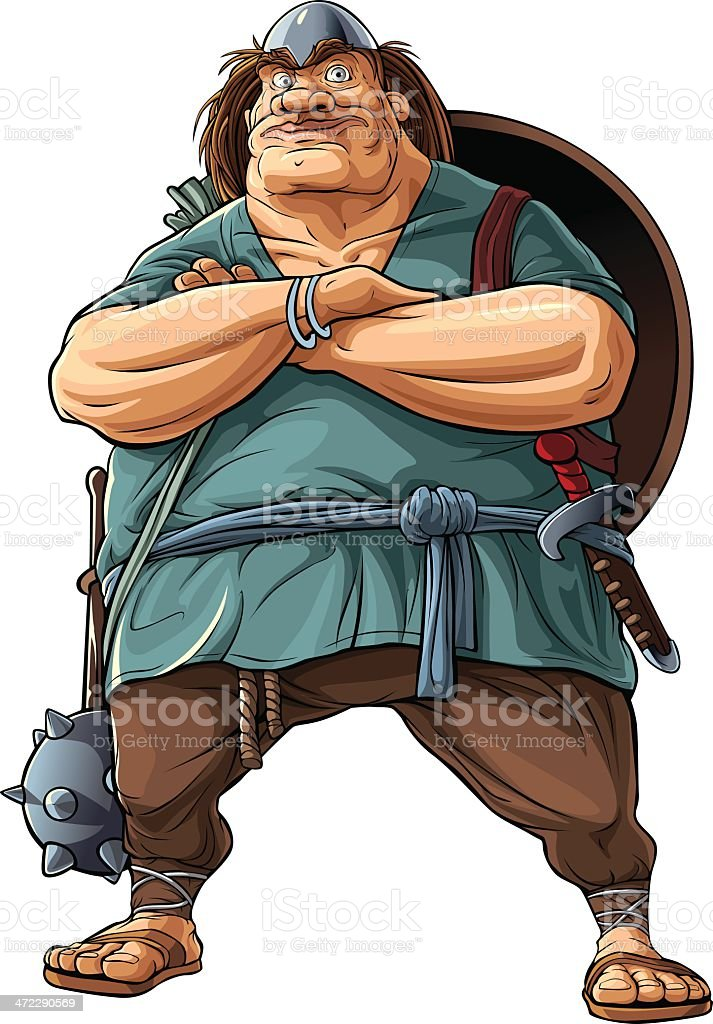 Viking vector art illustration