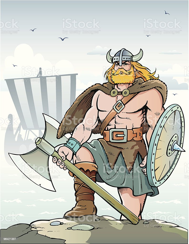 Viking royalty-free stock vector art