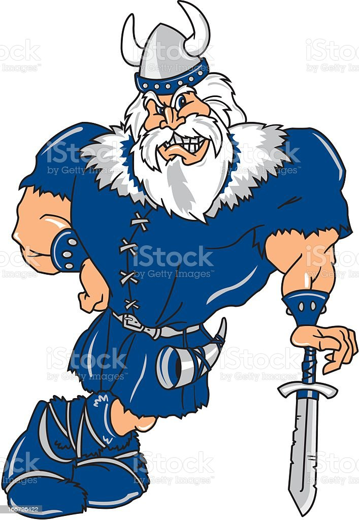 Viking Warrior royalty-free stock vector art