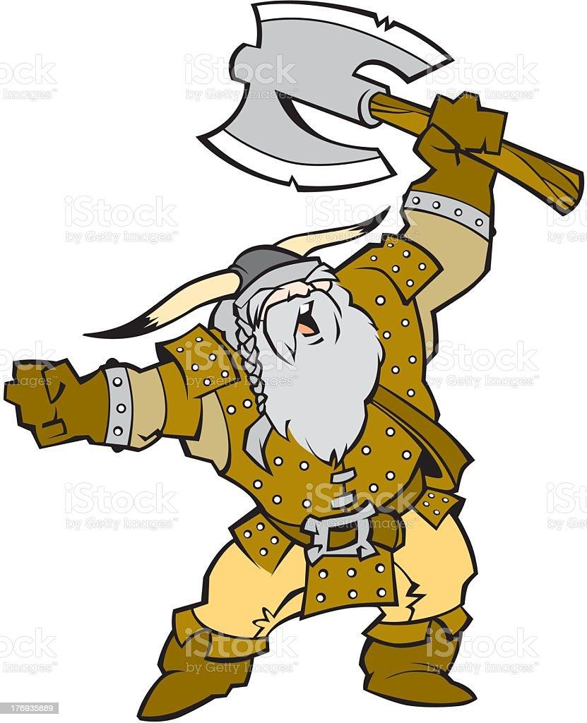 Viking Warrior royalty-free stock vector art