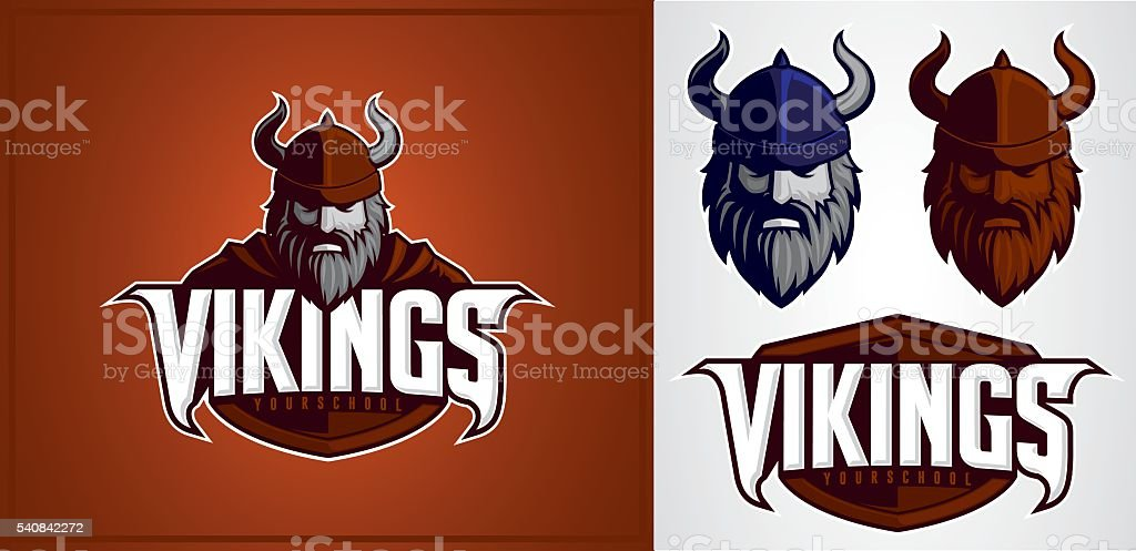 Vikings Mascot vector art illustration