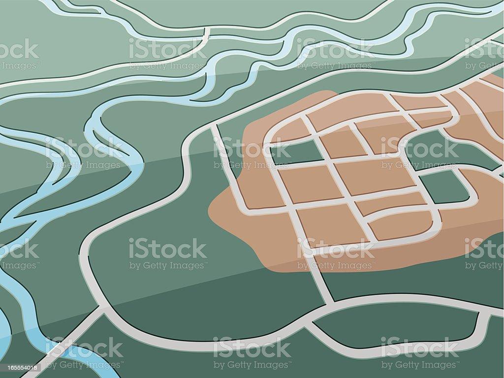 Village Map royalty-free stock vector art