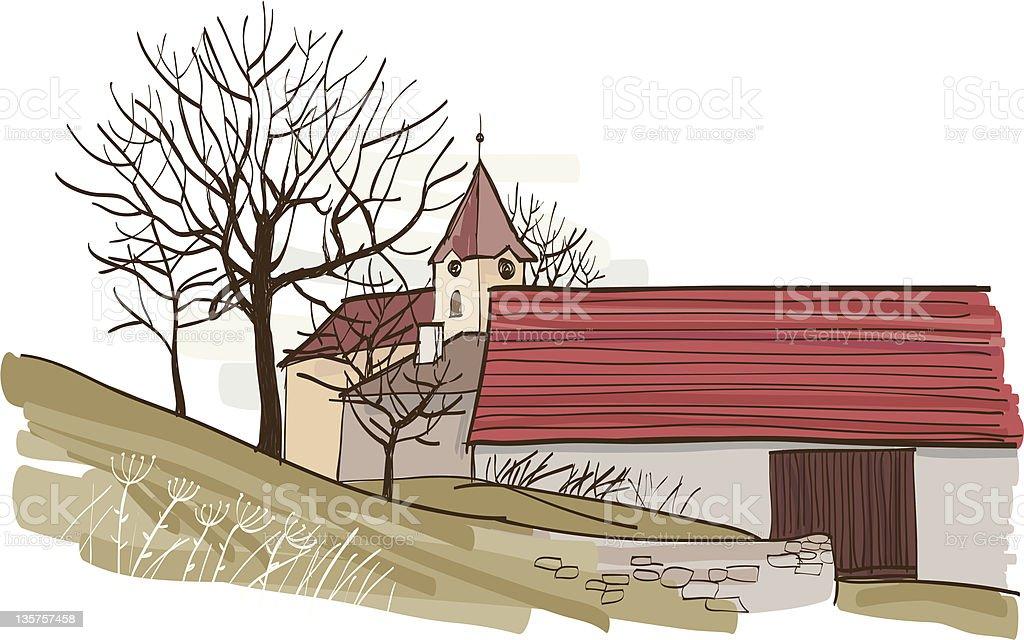 Village royalty-free stock vector art