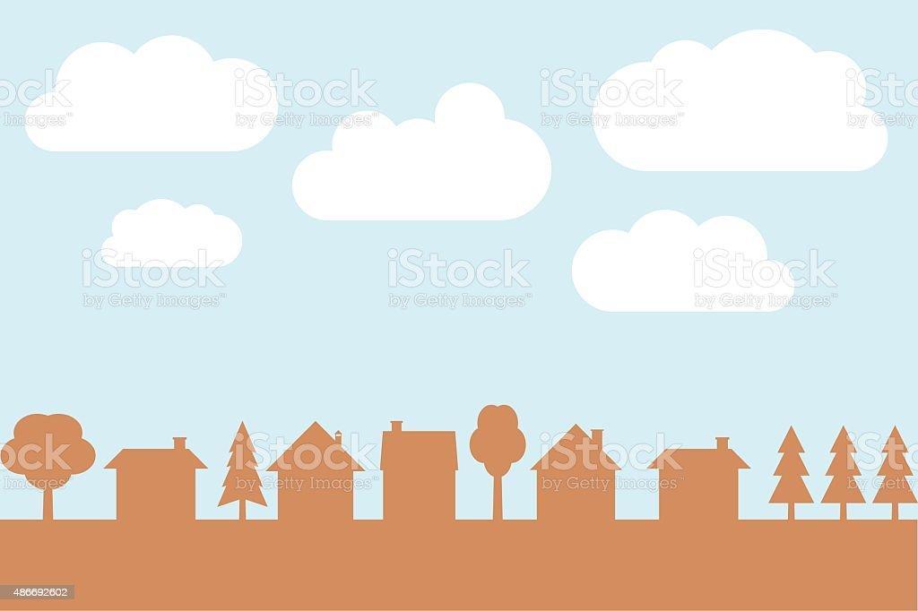 Village vector vector art illustration