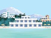 villas on the beach