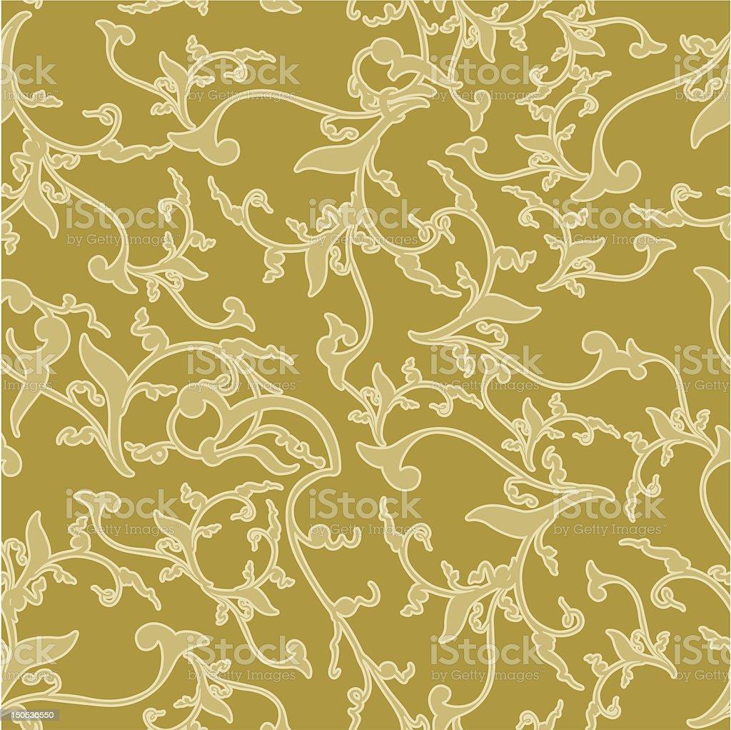 Vine leaf pattern royalty-free stock vector art