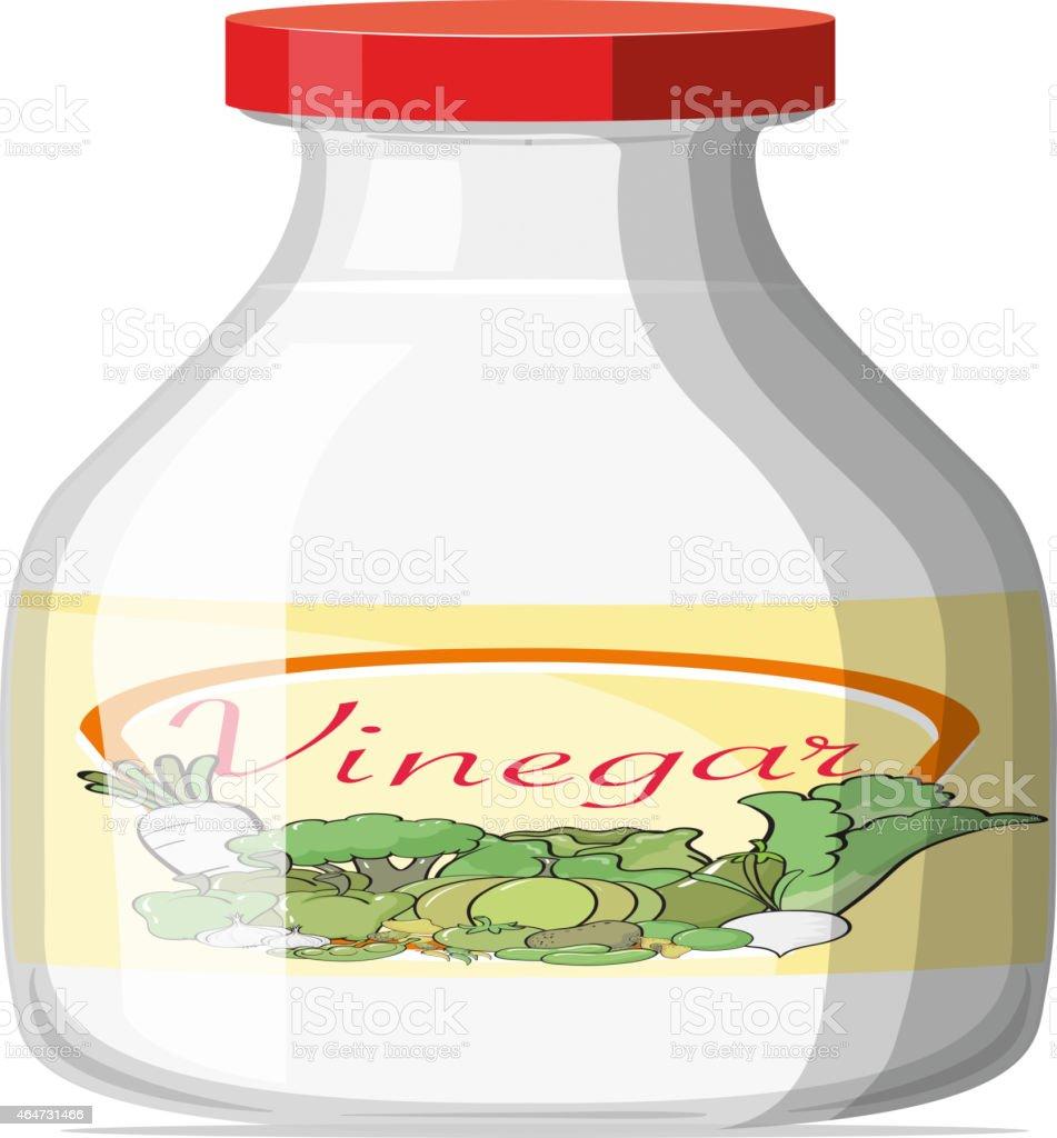 Vinegar vector art illustration