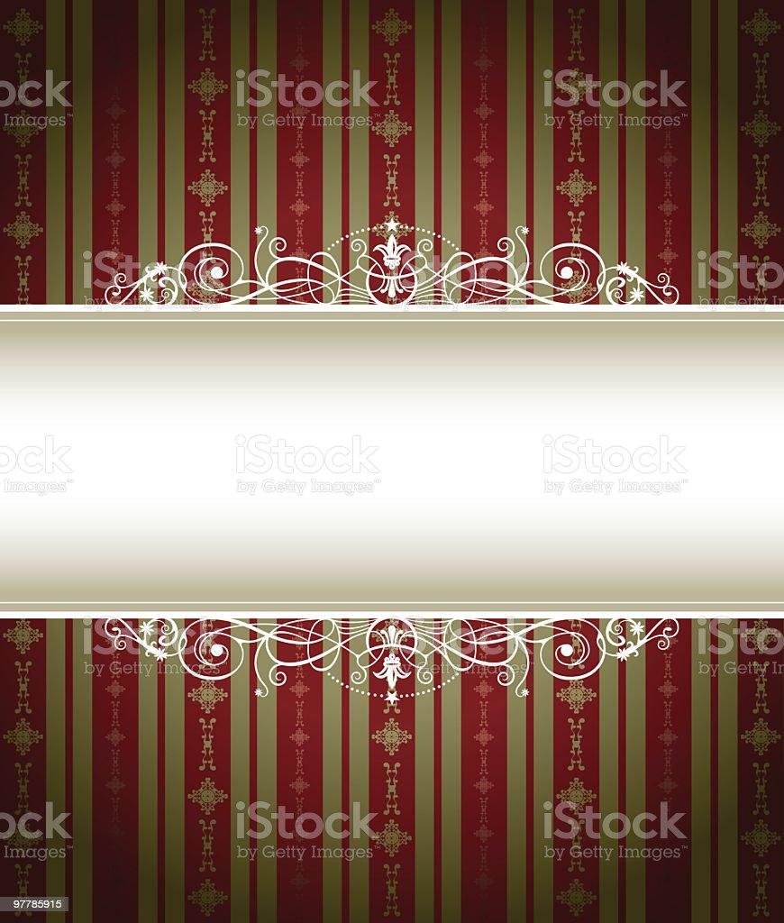 Vino Stripe Frame royalty-free stock vector art