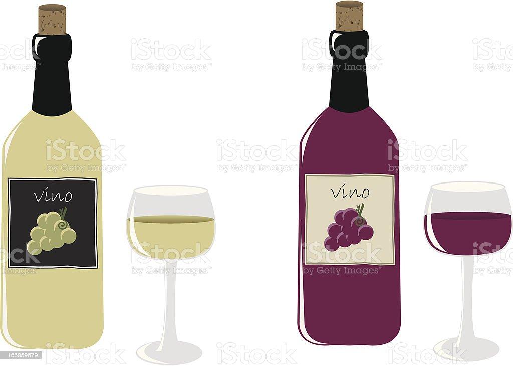 Vino royalty-free stock vector art