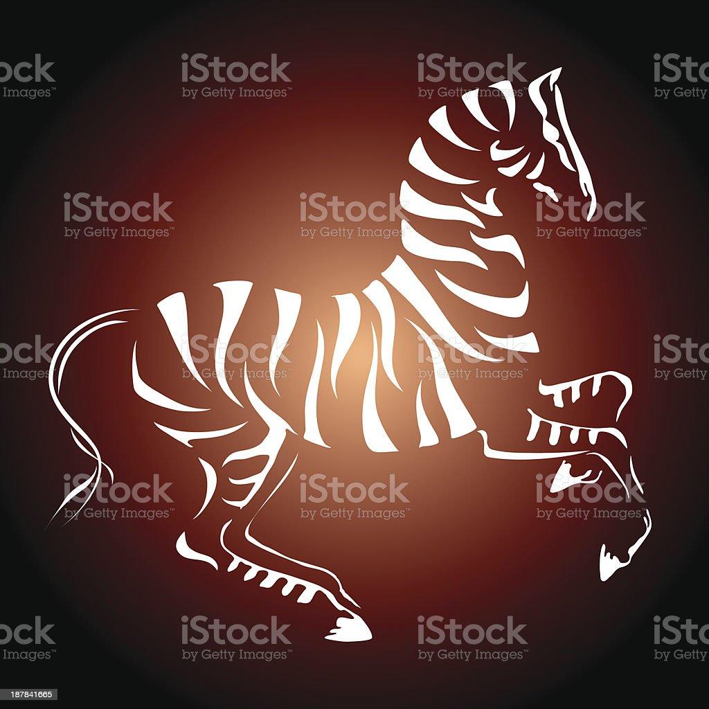 Vinous zebra royalty-free stock vector art