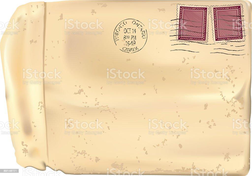 Vintage 1940s Envelope vector art illustration